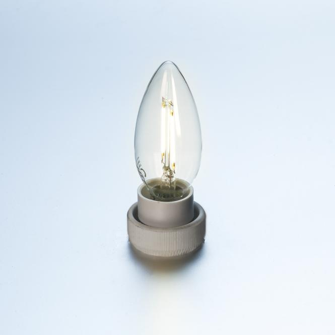 led gl hlampe fadenlampe kerze retro 2 w klar e14 220 lumen warmwei led kerzen. Black Bedroom Furniture Sets. Home Design Ideas