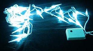 LED Lichterkette mit 40 Mini-Eiszapfen, weiß