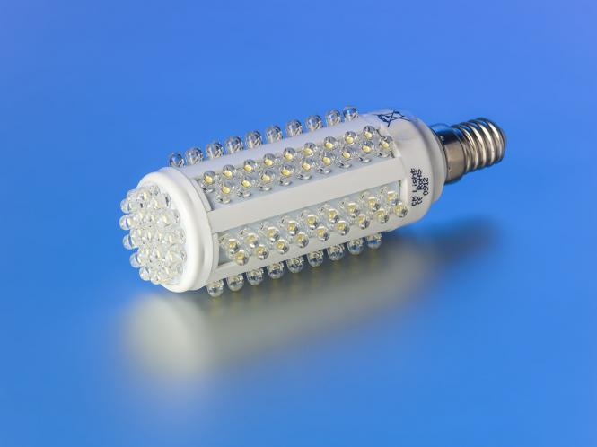led leuchtmittel 550 lumen 128 leds e14 warmwei warmwei led kolbenlampe e14. Black Bedroom Furniture Sets. Home Design Ideas