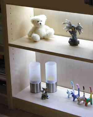 LED Regalbeleuchtung 4x 0,3 m warmweiß inkl. Netzteil