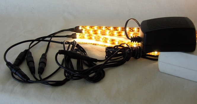 LED Regalbeleuchtung 5x 0,3 m warmweiß inkl. Netzteil
