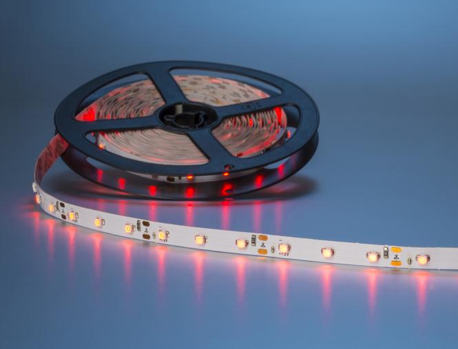 LED Streifen 5m 300x 3528 LEDs rot IP20