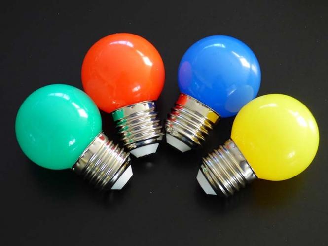 LED Tropfen Lampen bunt MIX 4er SET rot/gelb/grün/blau