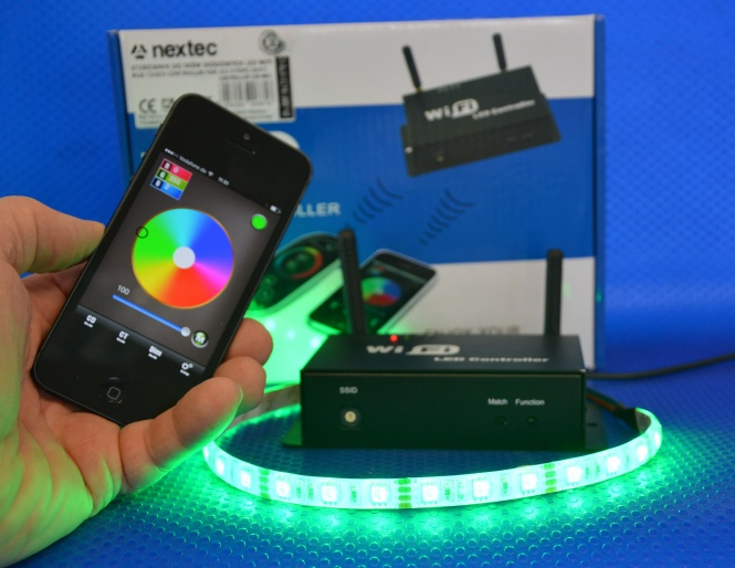 led wifi controller inkl fernbedienung f r handy. Black Bedroom Furniture Sets. Home Design Ideas