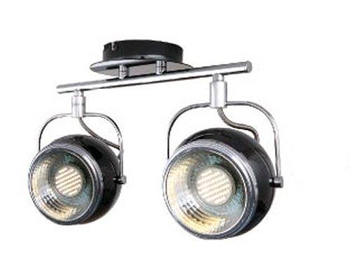 retro decken lampe 2 flammig sockel gu10 sockel f r led schwarz leuchten und lampen. Black Bedroom Furniture Sets. Home Design Ideas
