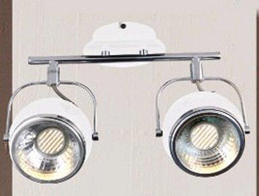 retro decken lampe 2 flammig sockel gu10 sockel f r led wei leuchten und lampen. Black Bedroom Furniture Sets. Home Design Ideas