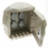 Steckdosenstein 4-fach granitfarben ohne Kabel
