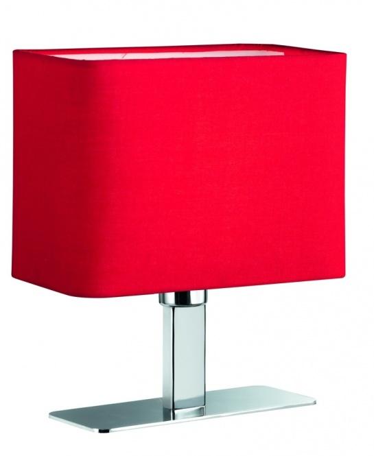 Tischleuchte MING E14 max. 40 Watt Schalter, rot