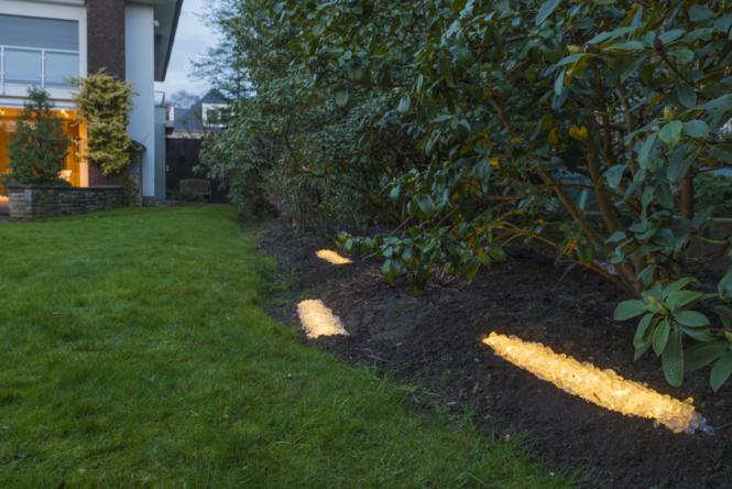 Led kiesbett leuchte 180 abstrahlwinkel 1 40 m orange for Zierfisch teich