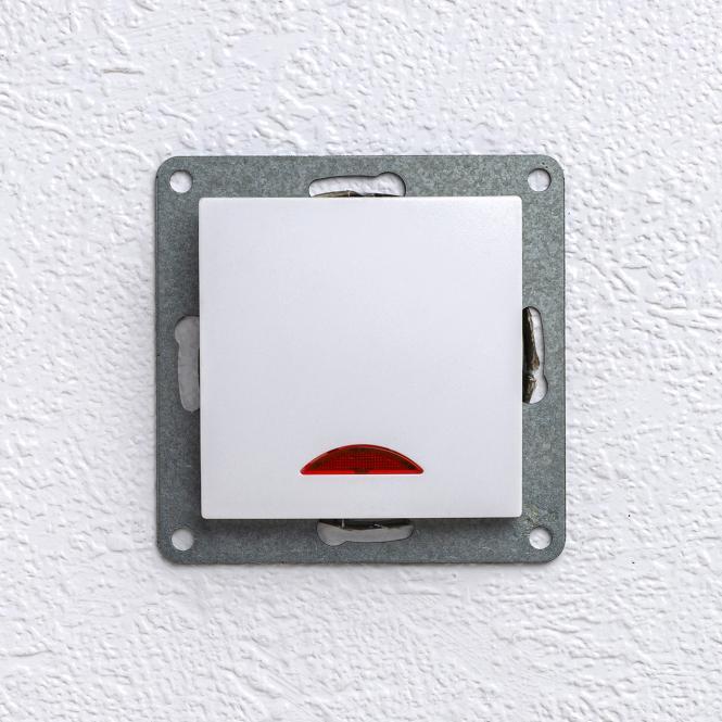unterputz einsatz lichtschalter mit kontrolllampe glas. Black Bedroom Furniture Sets. Home Design Ideas