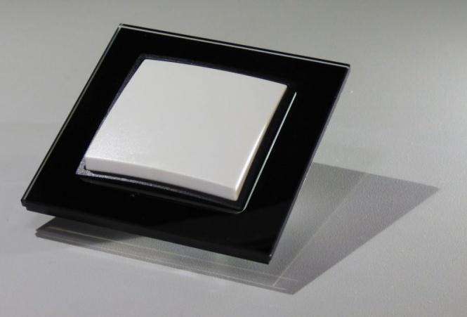 abelka nuovo glasrahmen schwarz 1x wechselschalter. Black Bedroom Furniture Sets. Home Design Ideas