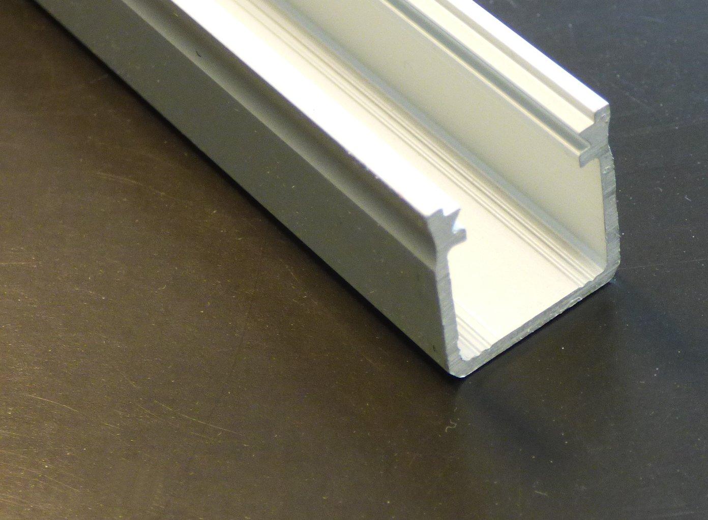 alu profil hoch 1m silbern eloxiert 16x18mm leuchten. Black Bedroom Furniture Sets. Home Design Ideas
