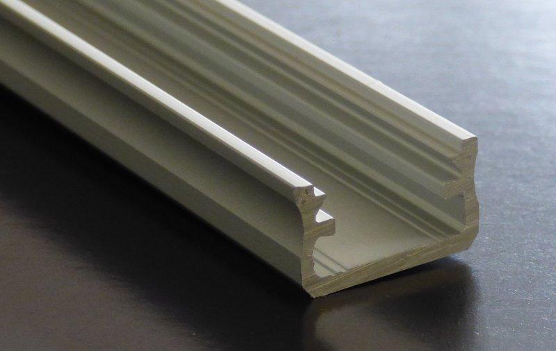 alu profil u form 2m silbern eloxiert 16x8 mm profilleiste led streifen. Black Bedroom Furniture Sets. Home Design Ideas