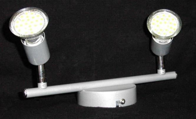 deckenleuchte paris 2 flammig led 3 watt 300 lumen leuchten und lampen innenleuchten. Black Bedroom Furniture Sets. Home Design Ideas
