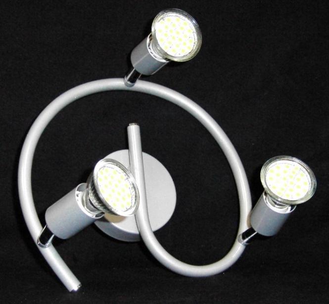 deckenleuchte paris 3 flammig led 3 watt 300 lumen leuchten und lampen innenleuchten. Black Bedroom Furniture Sets. Home Design Ideas