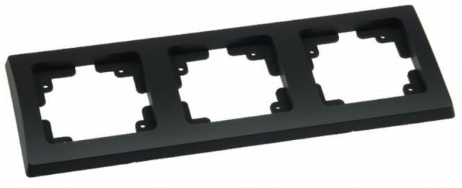 delphi 3 fach rahmen schwarz f r steckdosen oder schalter. Black Bedroom Furniture Sets. Home Design Ideas