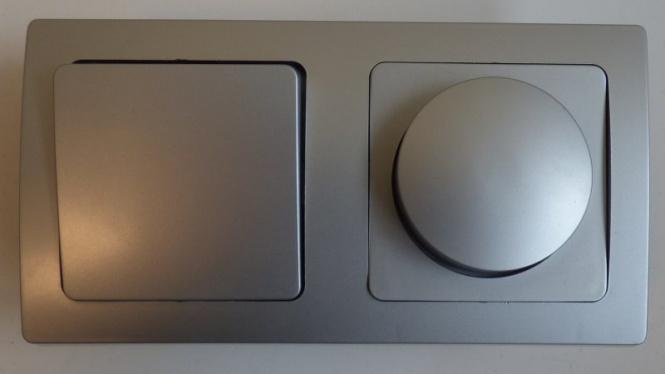 delphi unterputz 1x led dimmer 1x wechselschalter silbern leuchten zubeh r elektroartikel. Black Bedroom Furniture Sets. Home Design Ideas