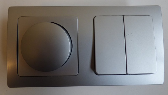 delphi unterputz 1x led dimmer 1x serienschalter silbern serienschalter unterputz. Black Bedroom Furniture Sets. Home Design Ideas