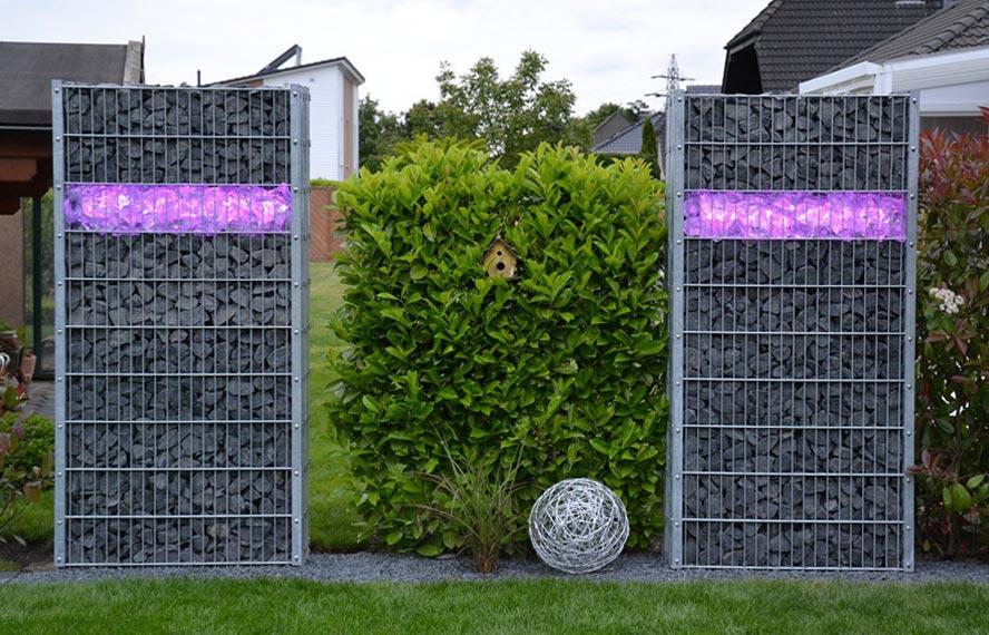 gabionen beleuchtung 360 abstrahlwinkel master slave 2x 1 m rgb leuchten und lampen. Black Bedroom Furniture Sets. Home Design Ideas