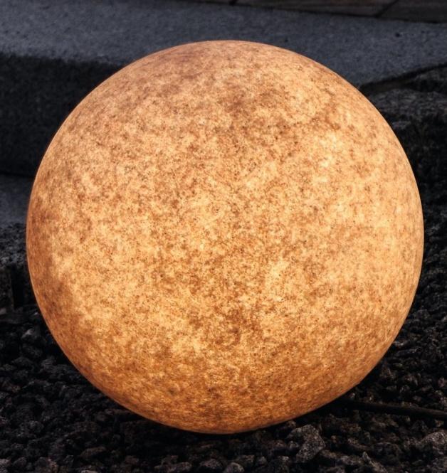 garten leuchtball e27 terracotta 30 cm mit erdspie leuchten. Black Bedroom Furniture Sets. Home Design Ideas