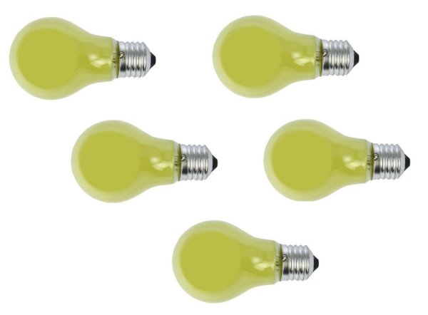 gl hlampe gl hbirne e27 40 watt gelb 5er set gl hlampe gelb e27. Black Bedroom Furniture Sets. Home Design Ideas