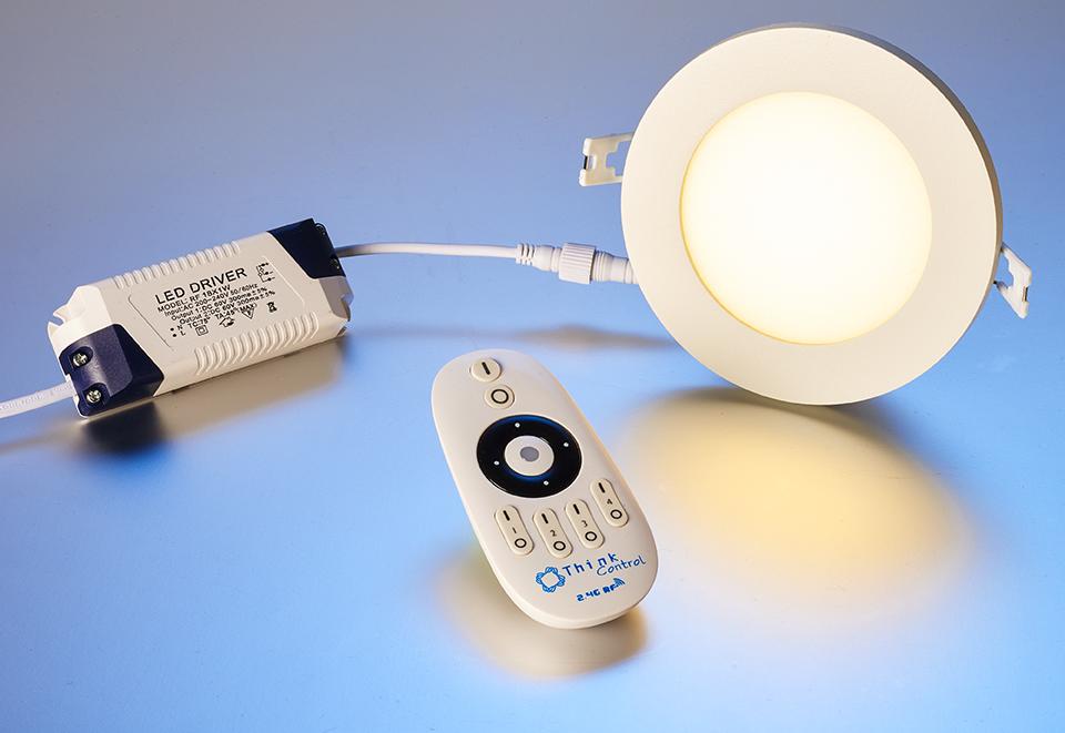 led homelight einbauspot dimmbar rund 15 watt ohne fernbedienung leuchten und lampen. Black Bedroom Furniture Sets. Home Design Ideas