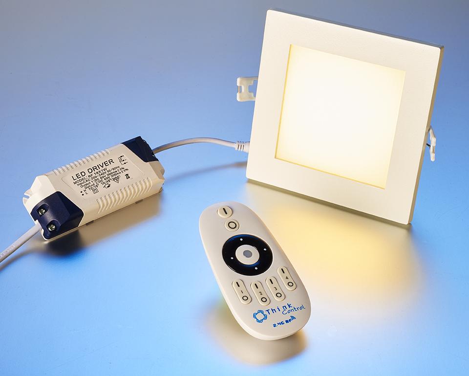 led homelight einbauspot dimmbar eckig 15 watt ohne fernbedienung leuchten und lampen. Black Bedroom Furniture Sets. Home Design Ideas