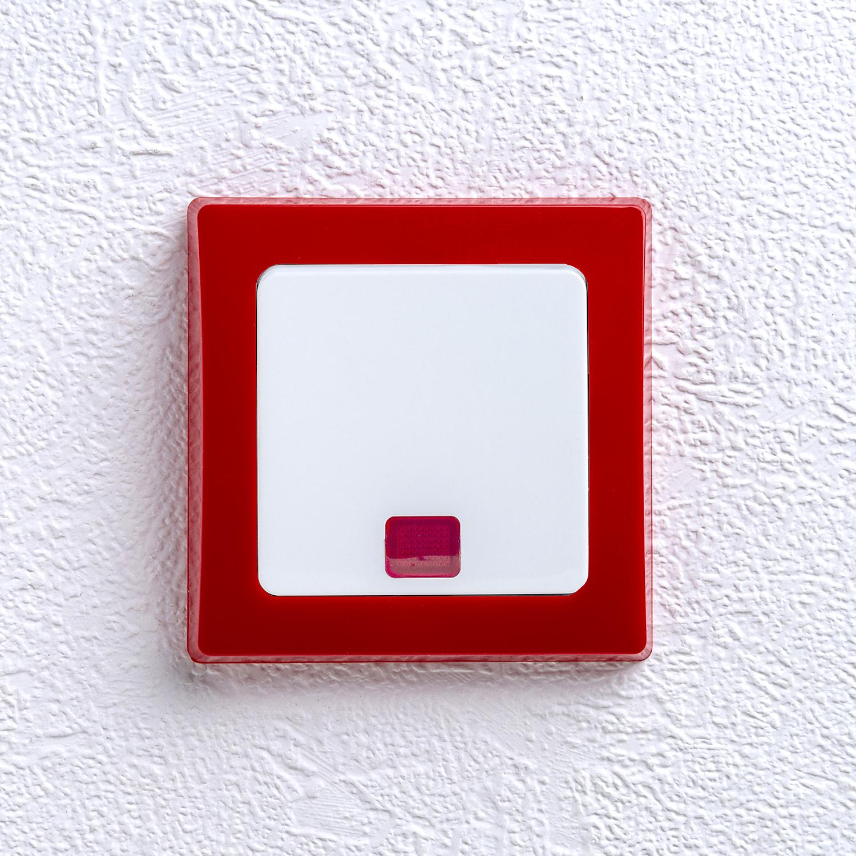 delphi kontrollschalter mit glimmlampe rahmen rot wipp schalter rot
