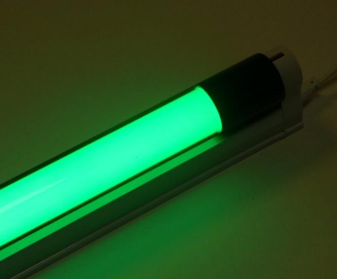 led armatur mit 1 20 m farbige led r hre 18 watt 1800 lumen gr n leuchten und lampen innenleuchten. Black Bedroom Furniture Sets. Home Design Ideas