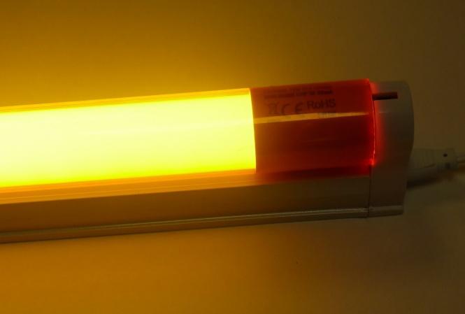 led armatur mit 1 20 m farbige led r hre 18 watt 1800 lumen orange leuchten und lampen. Black Bedroom Furniture Sets. Home Design Ideas