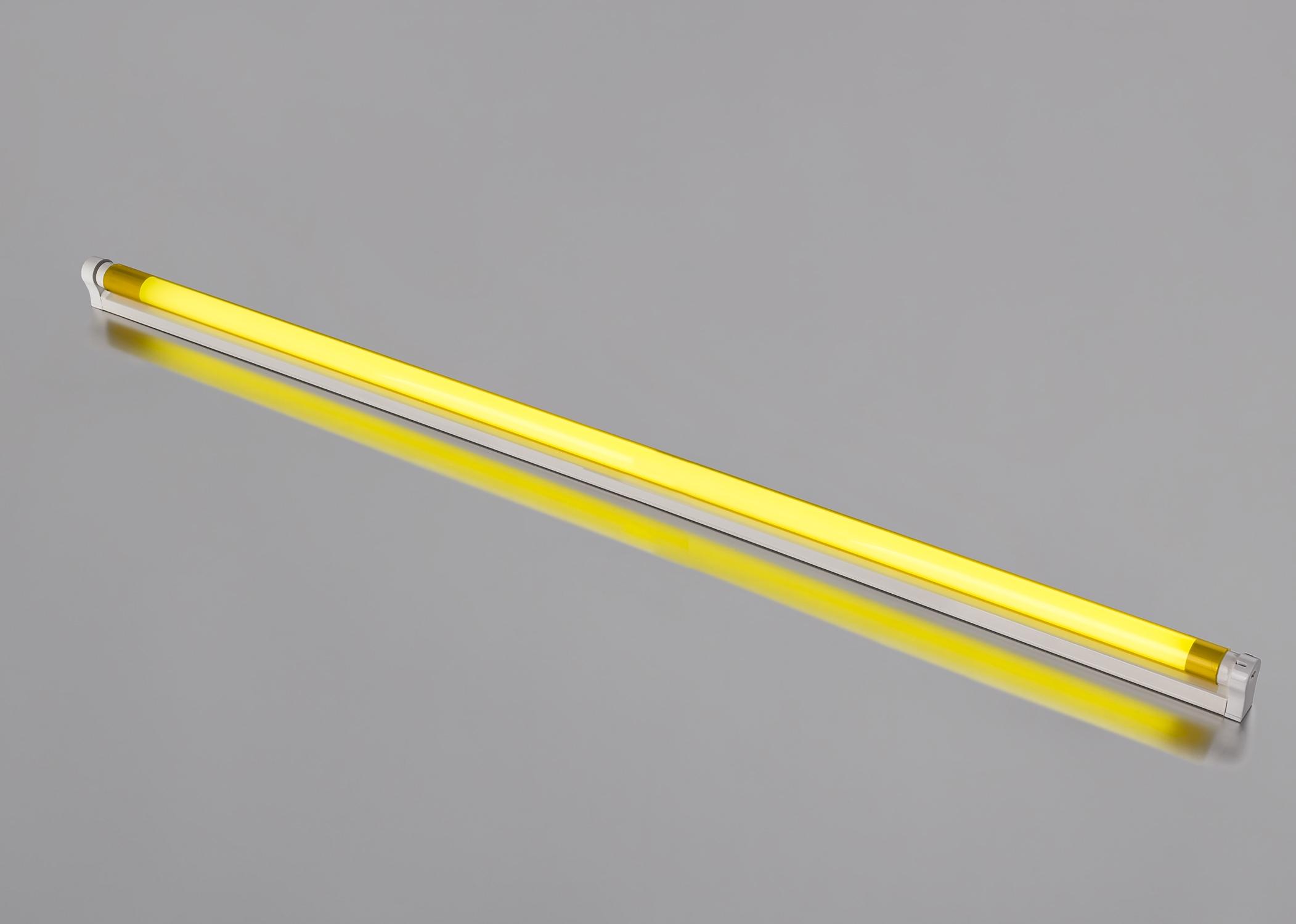 Bra LED Armatur mit 1,20 m farbige LED Röhre 18 Watt 1800 Lumen gelb VV-27