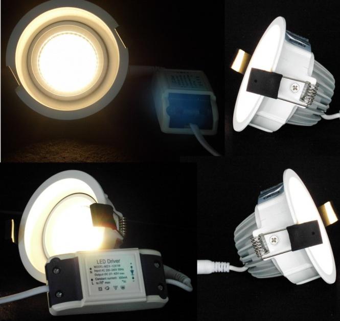 led einbaustrahler round 100 mm cob warmwei leuchten und lampen einbaustrahler. Black Bedroom Furniture Sets. Home Design Ideas