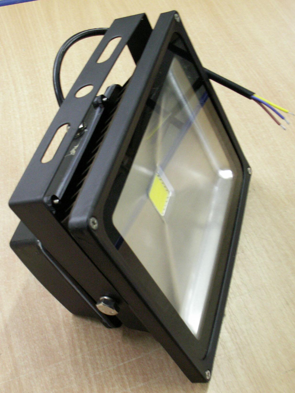 led au en flutlicht strahler montageb gel kaltwei 30 watt ip65 leuchten und lampen au enleuchten. Black Bedroom Furniture Sets. Home Design Ideas