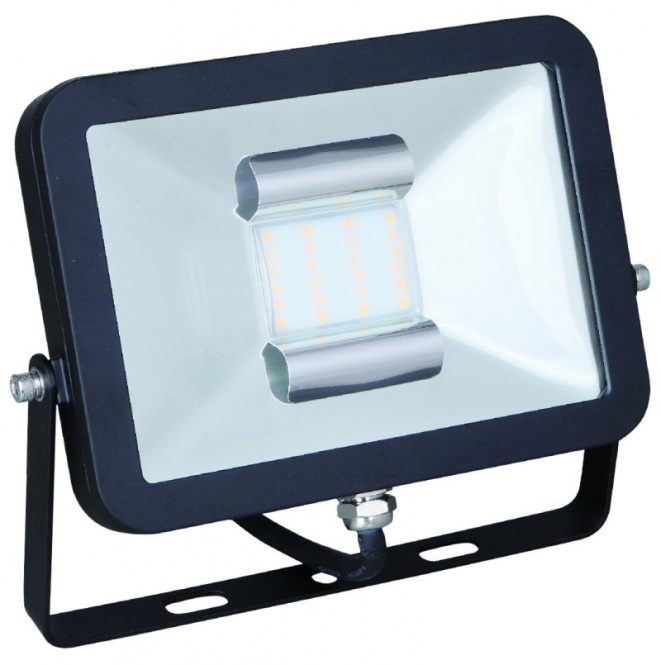 led fluter flach 30 watt 2050 lumen neutralwei geh use schwarz leuchten und lampen au enleuchten. Black Bedroom Furniture Sets. Home Design Ideas