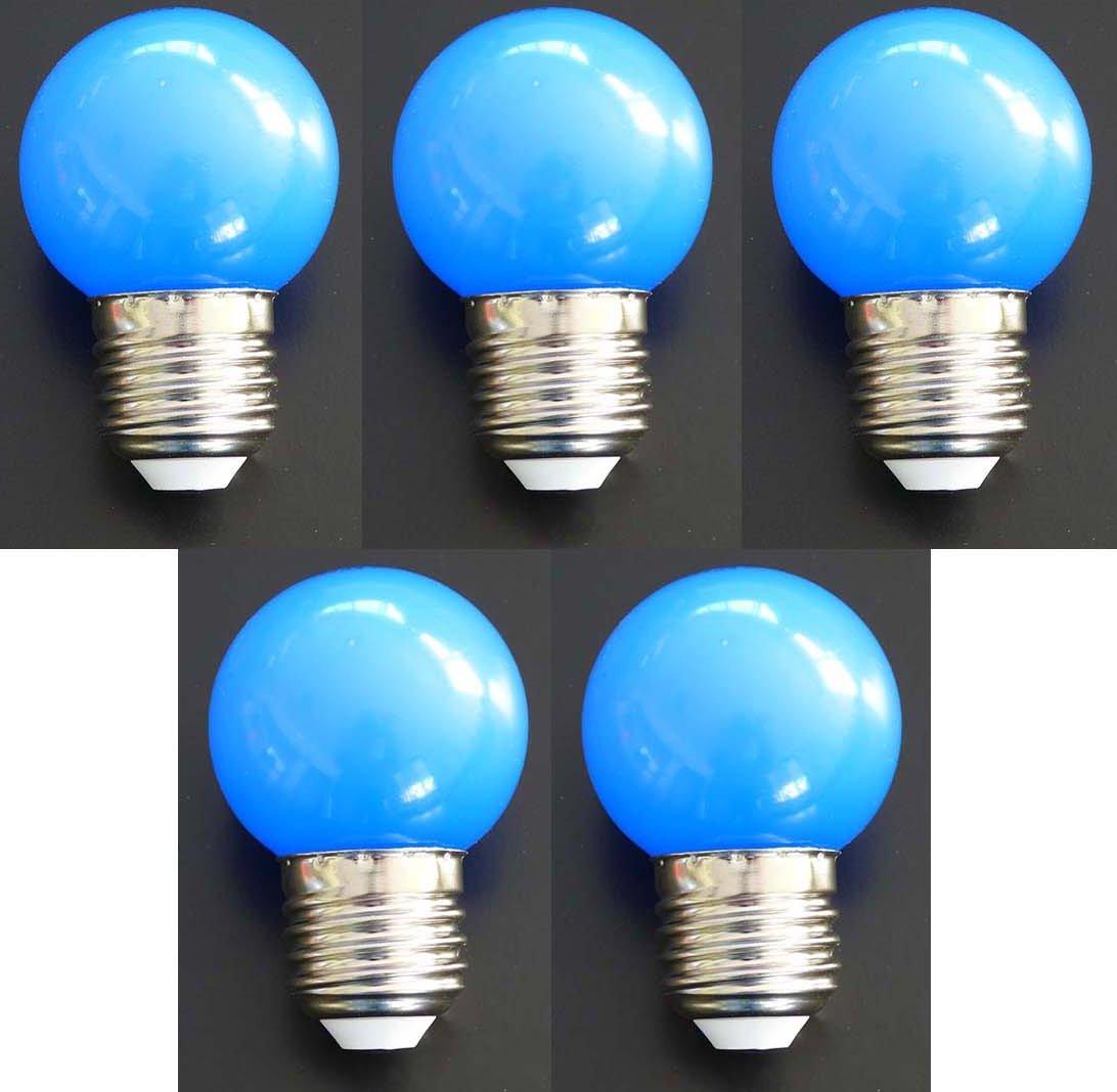 led lampe tropfen e27 1 watt blau 5er pack 5er pack led tropfen 1 watt blau led. Black Bedroom Furniture Sets. Home Design Ideas