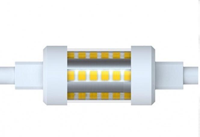 Led lampe r7s 5 w klar 78 mm 500 lumen kaltwei for Lampen 500 lux