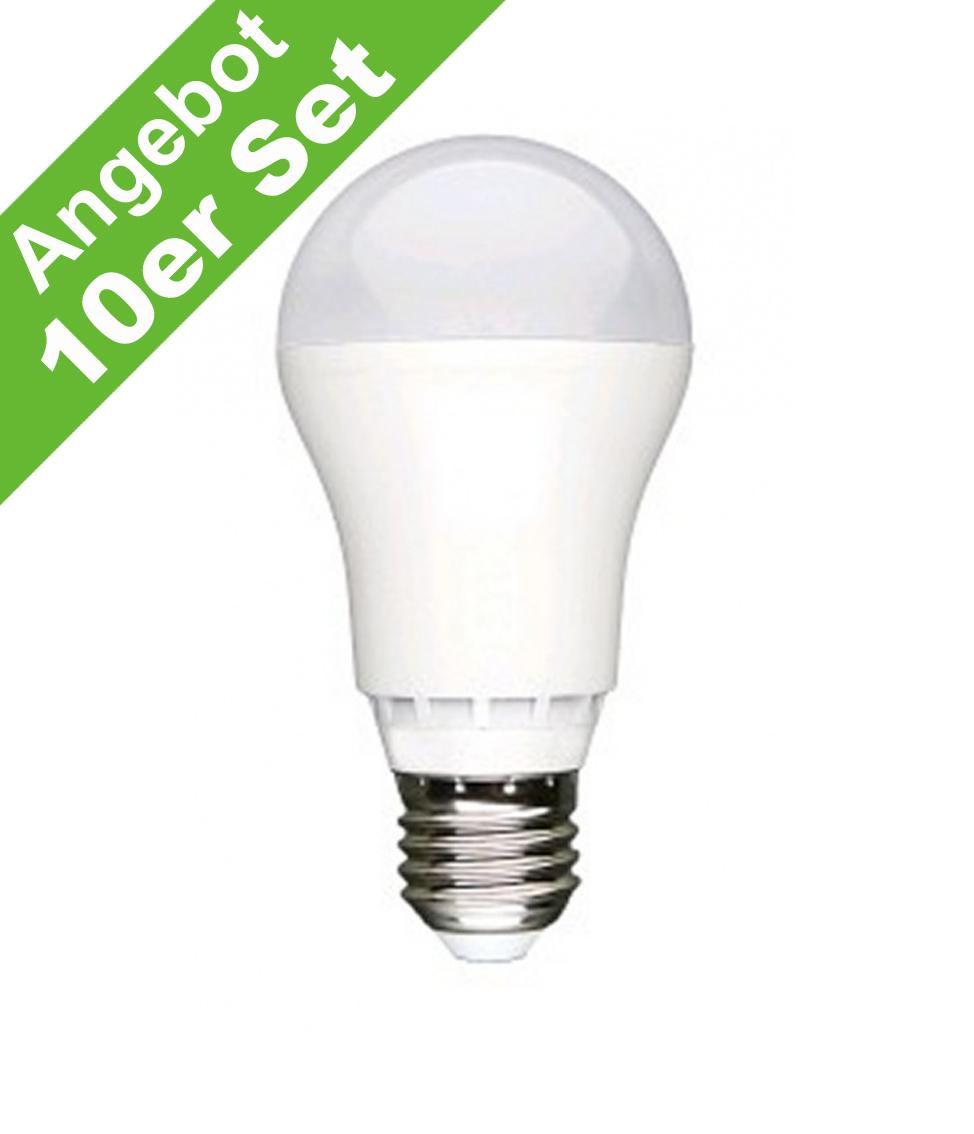 led lampe 800 lumen 10 watt e27 warmwei 10er pack leuchtmittel led lampen. Black Bedroom Furniture Sets. Home Design Ideas