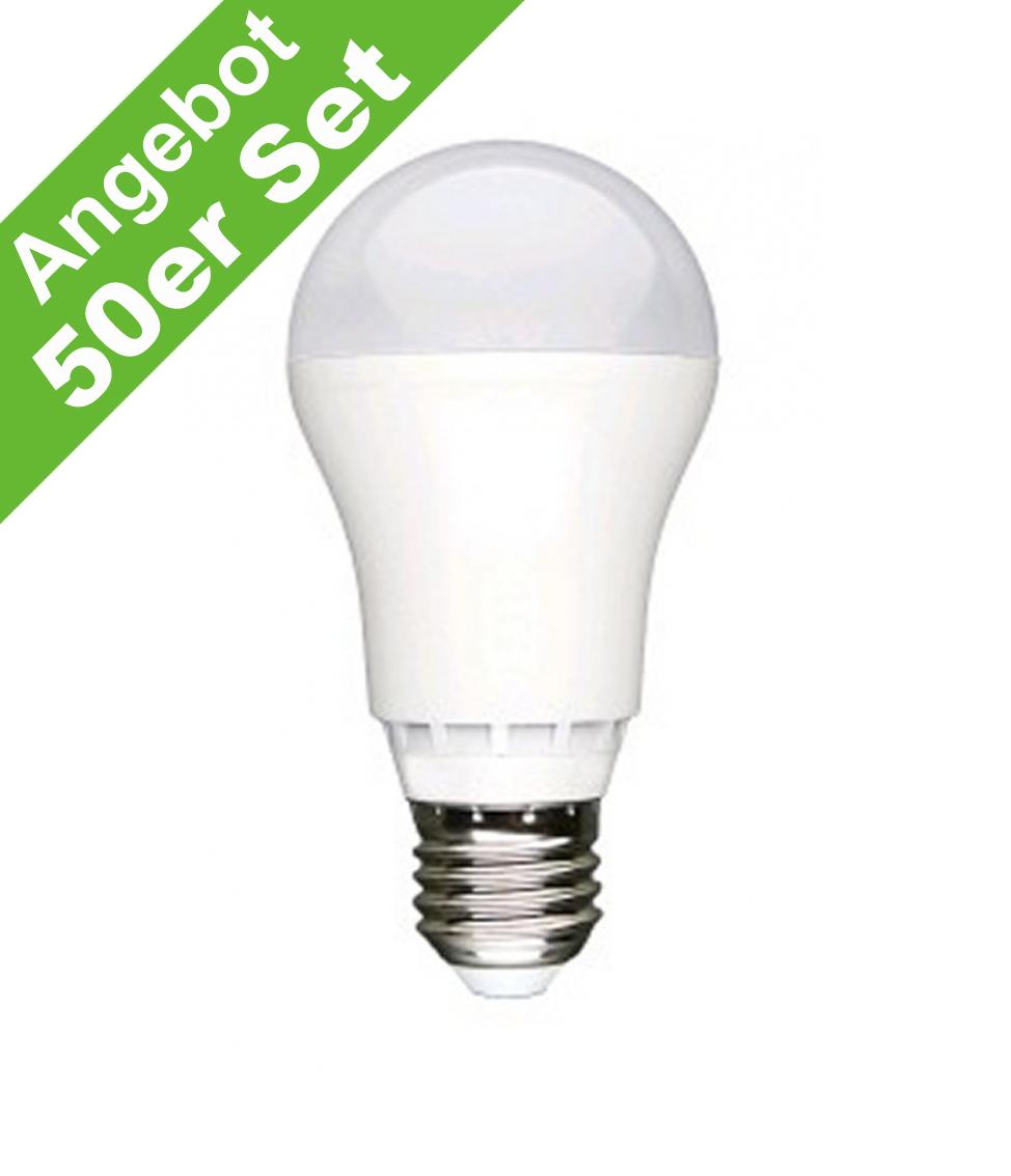 Leuchtmittel LED Lampen  LED Lampe 800 Lumen 10 Watt E27 warmweiß 50er Pack  -> Led Lampe Lumen