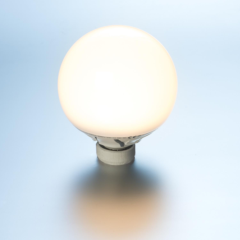 Seneste LED Globe Lampe 25 Watt 2420 Lumen E27 Ø 145 mm kaltweiß OF36