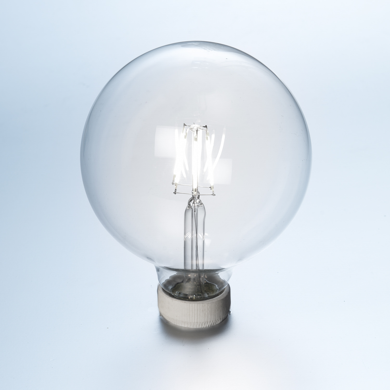led globe gl hlampe fadenlampe 3er pack 8 w klar 125 mm e27 870 lumen kaltwei led. Black Bedroom Furniture Sets. Home Design Ideas