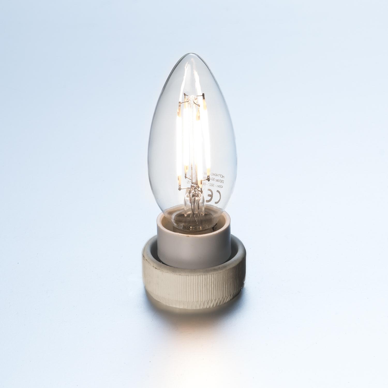led kerze dimmbar filament 4 watt 360 lumen leuchtmittel led lampen led lampen. Black Bedroom Furniture Sets. Home Design Ideas
