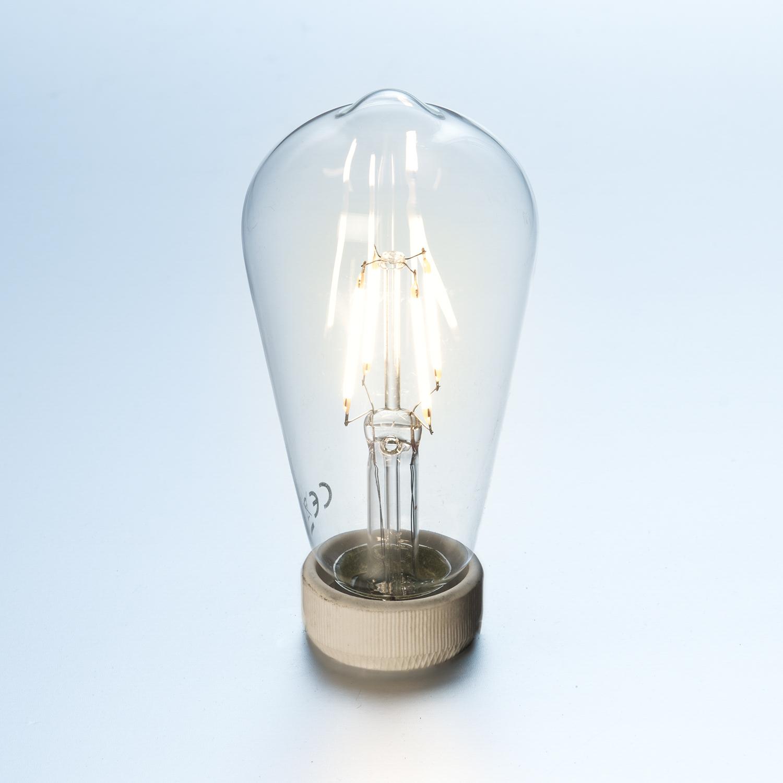 led gl hlampe fadenlampe st64 retro 6 w klar e27 600 lumen warmwei led fadenled lampe klar e27. Black Bedroom Furniture Sets. Home Design Ideas