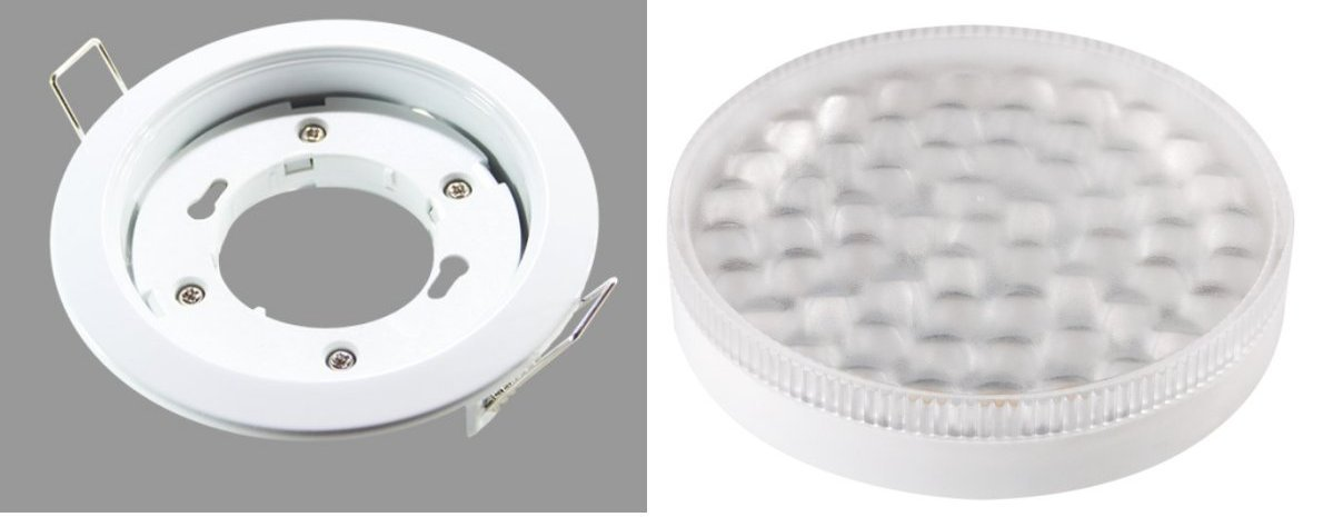 Led einbauspot wei geringe tiefe 3er set neutralwei 3er for Flache led spots