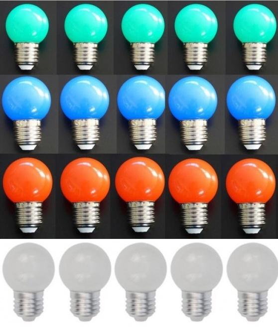 led lampe tropfen bunt 20er set rot wei gr n blau leuchtmittel led lampen. Black Bedroom Furniture Sets. Home Design Ideas