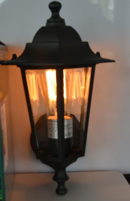 retro wandleuchte old style lampe 40 watt h 330 mm leuchten und lampen au enleuchten. Black Bedroom Furniture Sets. Home Design Ideas