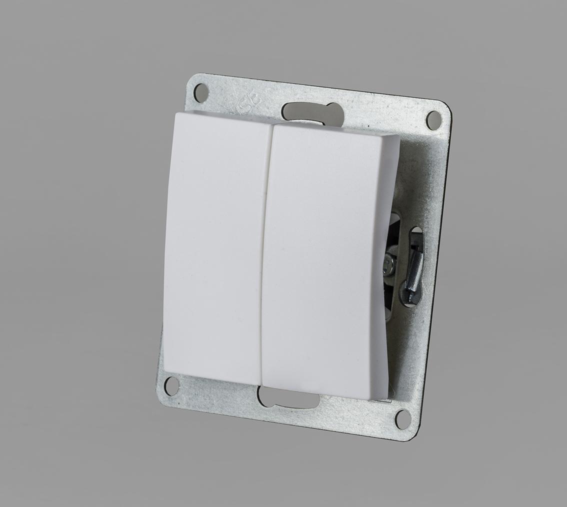 Serien Schalter 2-fach 230 Volt 10 Ampere | Leuchten Zubehör ...