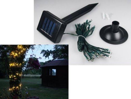 solar led lichterkette 25 leds wei sensor leuchten und lampen au enleuchten. Black Bedroom Furniture Sets. Home Design Ideas