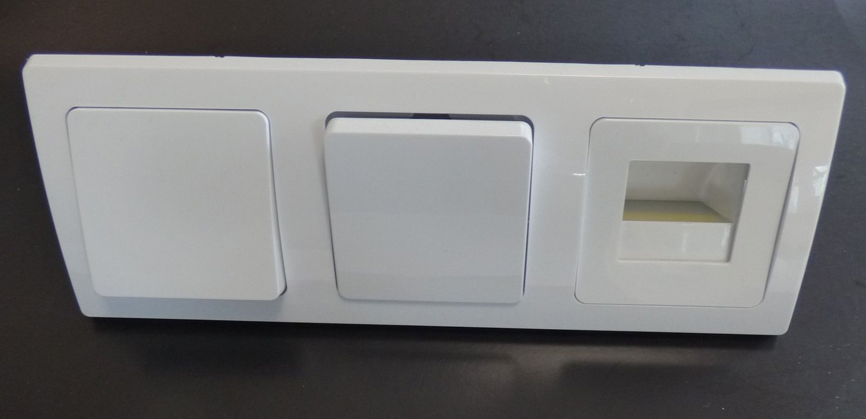 DELPHI 2x Wechsel Schalter 1x LED Licht Rahmen weiß | Leuchten ...