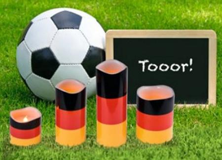 Led kerzen deutschland farben deko f r die fu ball wm 2018 for Deutschland deko